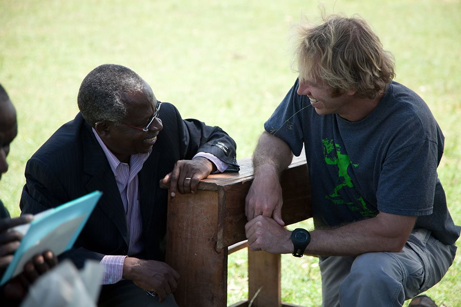 Jake Harriman in the project with late Nuru Kenya Country Director Philip Mohochi (Nuru International)