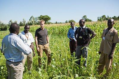 Jake Harriman with the Nuru Kenya Agriculture Program Managers 1