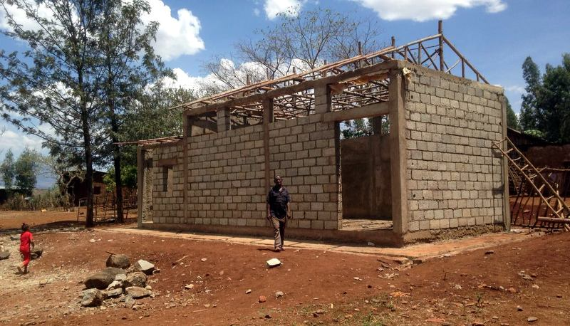 Nuru launched programming in Kucha district in 2016. Here, Nuru is constructing a new small granary for the Dana sub-district cooperative to store inputs and harvested grain.