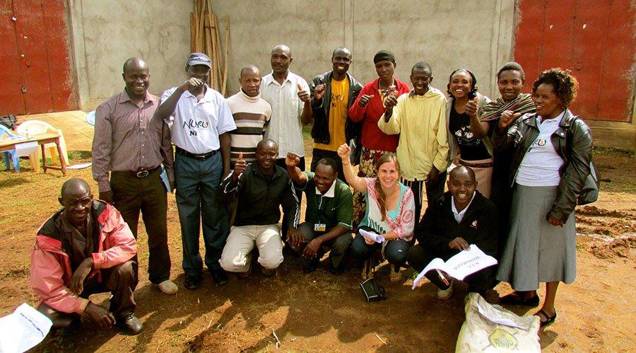 Amy Sherwood with Nuru Kenya Agriculture