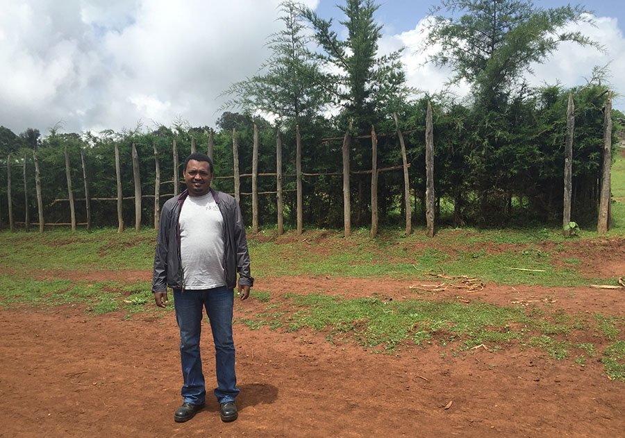 Berhanu Gumara, an Agriculture Extension and Rural Livelihoods Field Officer with Nuru Ethiopia