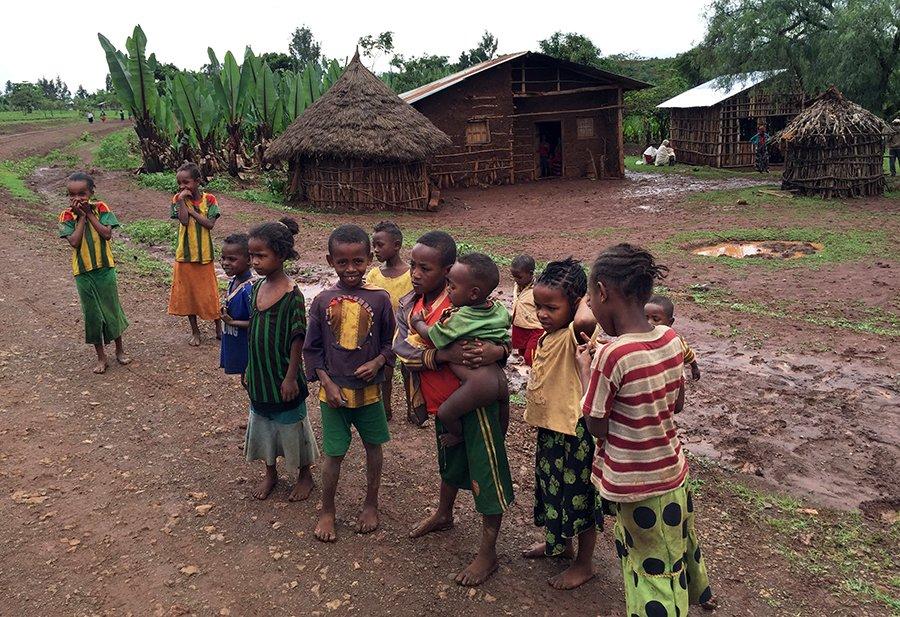 Children in Zefine, where Nuru Ethiopia has its offices