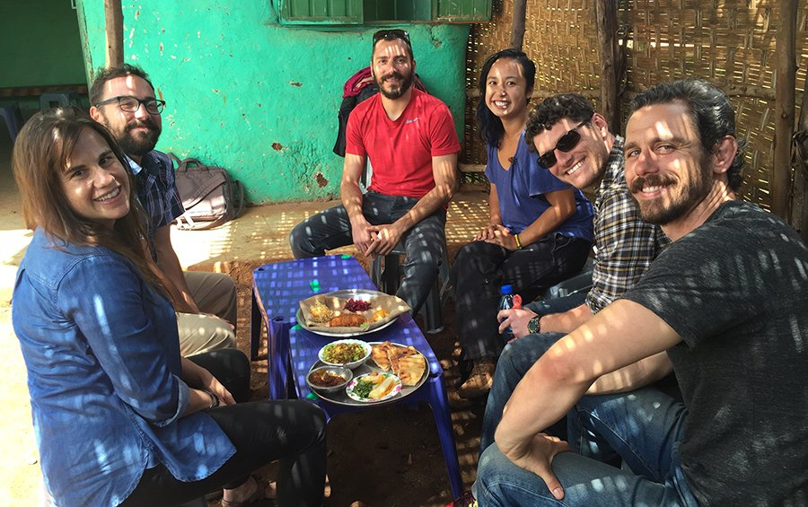 Ioannis Meletiadis with the Nuru team in Ethiopia