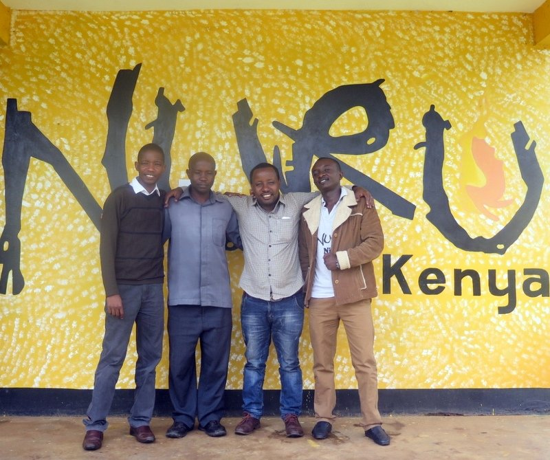Zelalem Abera, Nuru Ethiopia Healthcare Program Manager, visits Nuru Kenya and learns from the Nuru Kenya Healthcare team on topics, such as TIC (Tailored Interpersonal Communication).
