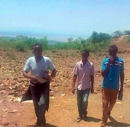 NE Agriculture Team led by Alemseged Lukas in the field assessing FAW damage for affected farmers in Boreda Woreda