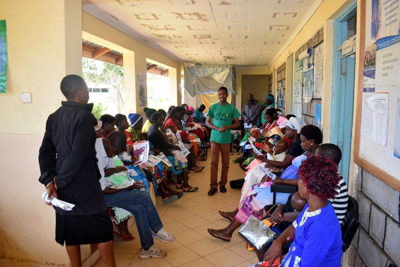 Program Manager engaging the new mothers in demystifying the myths and believes that are perceived to be hindering mothers from practicing exclusive breastfeeding